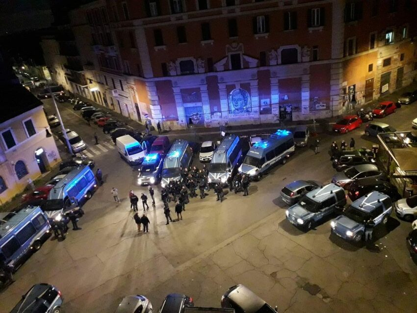 """L'expulsion du """"Nuovo Cinema Palazzo"""""""