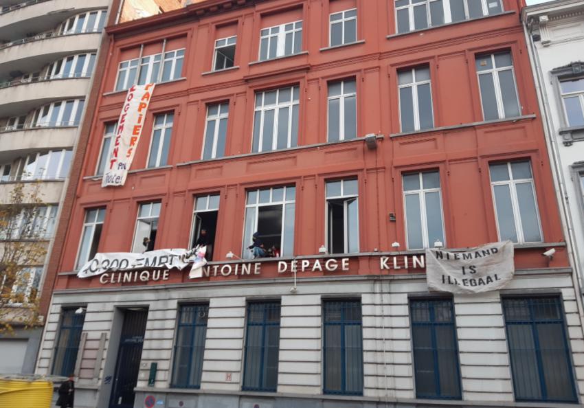 Ouverture d'une occupation à Saint-Gilles