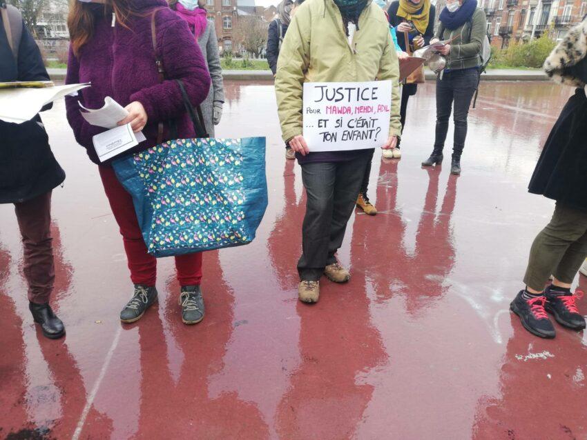 Répression d'une action contre les violences policière à Saint-Gilles