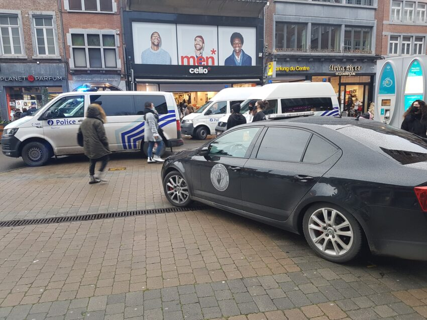 Répression d'une manifestation de Gilets Jaunes à Namur