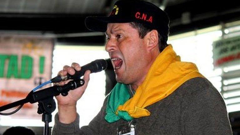 "Robert Daza, fondateur du ""Coordinador Nacional Agrario"" (CNA)"