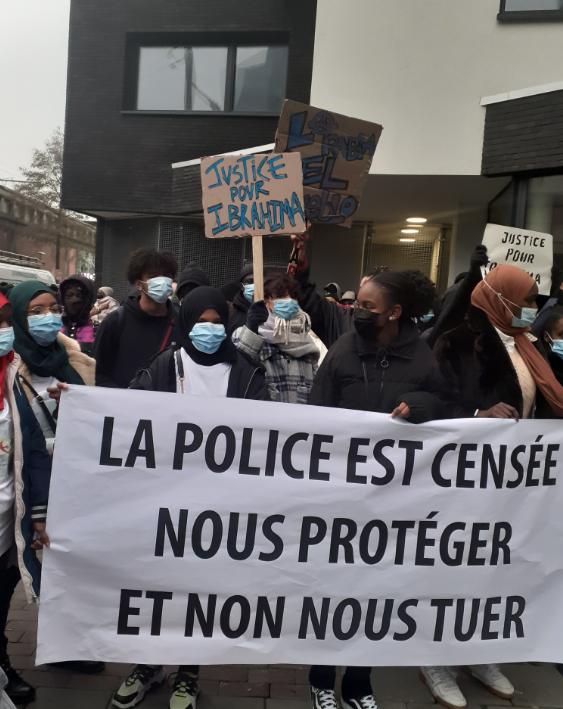 Rassemblement pour Ibrahima tué par la police