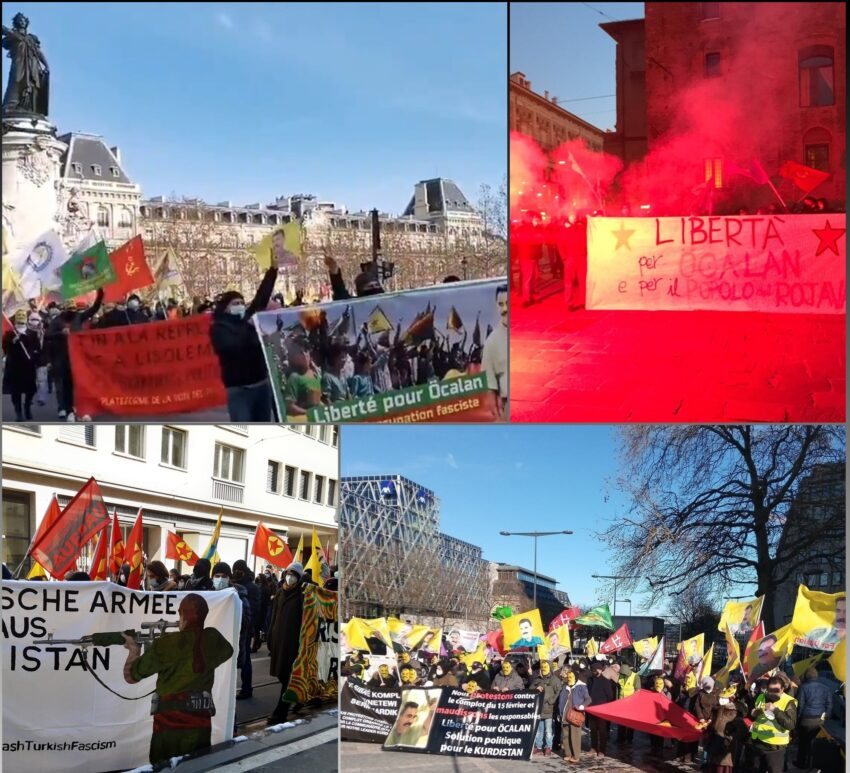 Manifestation du 12 février 2021 (Pour A. Öcalan et le soutien à Gara)