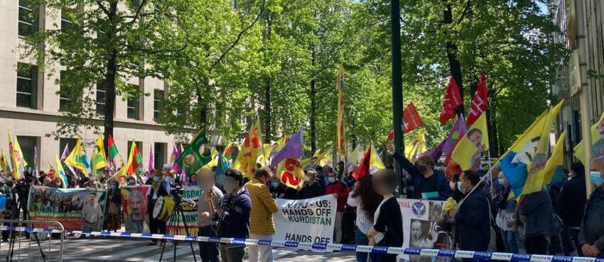 Manifestation NATO-US à Bruxelles