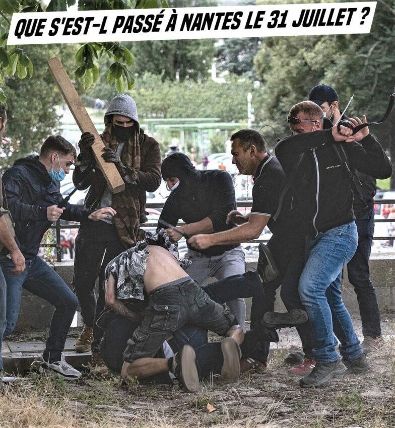 Attaques néo-nazie et policière lors d'une manifestation contre le pass sanitaire à Nantes